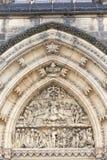Basilique de St Peter et de St Paul, Vysehrad, détails du portail, Prague, République Tchèque Photographie stock libre de droits
