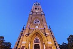 Basilique de St Stanislaw Kostka à Lodz Image libre de droits