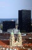 Basilique du coeur sacré de Jésus à Zagreb Photographie stock libre de droits