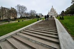 Basilique du coeur sacré de Paris Images libres de droits