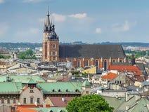 Basilique du ` s de St Mary ? Cracovie, Pologne photo libre de droits