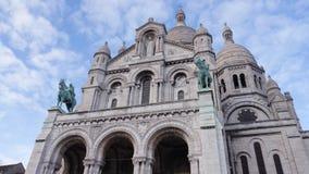 Basilique du sacré cŔur de Montmartre Arkivfoto