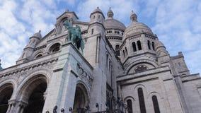 Basilique du sacré cŔur de Montmartre Arkivfoton