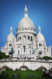 Basilique du Sacré-CÅur Paris stockfotos