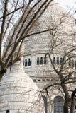 Basilique du Sacré-Cœur behind the trees Stock Images