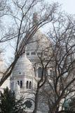 Basilique du Sacré-Cœur behind the trees Stock Image