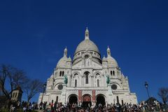 Basilique du Sacré Coeur. Paris montmartre france Stock Photos