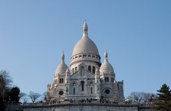 Basilique du Sacre在蒙马特,巴黎 免版税图库摄影
