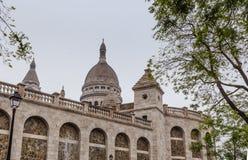 ¿Basilique du Sacre C? ur, 1914 Colina Montmartre, París Imagen de archivo libre de regalías