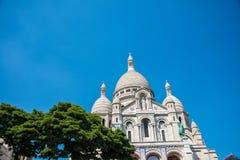Basilique du Sacre Coeur教会在巴黎 库存图片