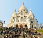 Basilique du Sacre Coeur в Париже Стоковая Фотография