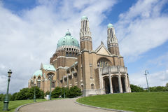 Basilique du Sacre-Coeur (basílica sagrado do coração) em Bruxelas, Bélgica Fotografia de Stock Royalty Free