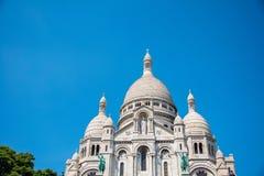 The basilique du sacre coeur church in paris Royalty Free Stock Photography