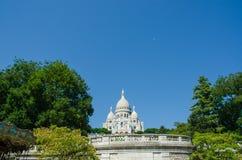 The basilique du sacre coeur church in paris Stock Photos