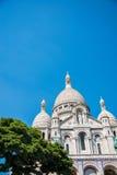 The basilique du sacre coeur church in paris Royalty Free Stock Photos