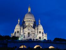 Basilique du Sacre Coeur in Montmartre Fotografie Stock Libere da Diritti