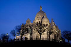 Basilique du Sacre Coeur in Montmartre, night view Royalty Free Stock Photo