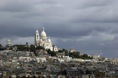 Basilique Du Sacre Coeur Parijs Royalty-vrije Stock Afbeelding
