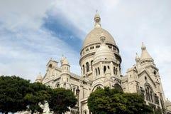 Basilique du Sacre Coeur, Paris, France. Basilica Sacre Coeur on Montmartre, Paris, France Stock Photo