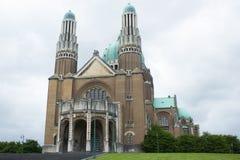 Basilique du Sacre-Coeur (sakral hjärtabasilika) i Bryssel, Belgien Royaltyfri Bild