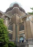 Basilique du Sacre-Coeur (sakral hjärtabasilika) i Bryssel, Belgien detaljer Royaltyfria Bilder