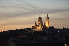 Basilique du Sacre Couer at dusk Royalty Free Stock Photo