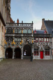 Basilique du sang saint, Bruges, Belgique image libre de droits