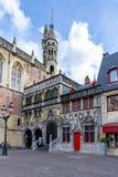 Basilique du sang saint sur la place de Burg au centre de Bruges, Belgique images stock
