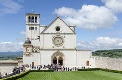 Basilique du St Francis d'Assisi à Assisi, Ombrie, Italie Photos libres de droits