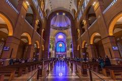 Basilique du tombeau national de notre dame d'Aparecida dans Braz Images stock