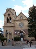 Basilique historique de cathédrale de St Francis Assisi en Santa Fe New Mexico photos stock