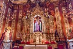 Basilique Jesus Mary Statues Church El Salvador Seville Espagne Image stock