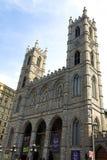 Basilique Montréal de Notre Dame Photographie stock libre de droits