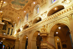 Basilique Notre-Dama-de-Quebec Fotos de archivo