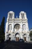 Basilique Notre-Dame à Nice, Cote d'Azur, France photo libre de droits