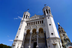 Basilique Notre Dame de Fourivere Notre Dame Fotos de archivo