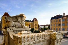 Basilique Notre-Dame de Fourviere en Lyon, Francia Imágenes de archivo libres de regalías
