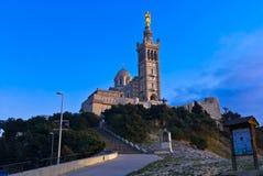 Notre-Dame-de-la-Garde. Basilique Notre-Dame-de-la-Garde, Marseille, France Stock Photos