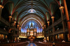 Basilique Notre-Dame de Montréal Royalty Free Stock Photography