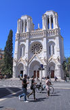 Basilique Notre Dame de Nice, France. images libres de droits