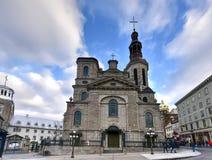 Basilique Notre-Dame-De-Québec Images libres de droits