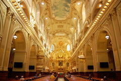 Basilique Notre-Dame-de-Quebec Stock Image