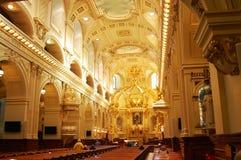 Basilique Notre-Dame-de-Quebec. In Old Quebec City, Canada Royalty Free Stock Photos