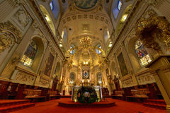 Basilique Notre-Dame-de-Quebec Stock Photo