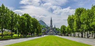 Basilique Notre Dame ? Lourdes photos libres de droits