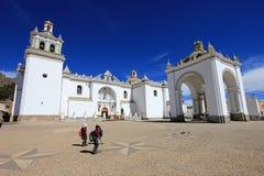 Basilique notre Madame de Copacabana, Bolivie Photos stock
