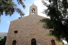 Basilique orthodoxe grecque de St George en ville Madaba, Jordanie Photographie stock