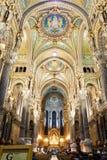 basilique Paniusi De Fourvi losu angeles notre re Zdjęcie Stock