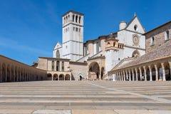 Basilique papale célèbre du St Francis de la basilique Papale d'Assisi images stock