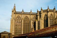 Basilique Saint-Nazaire, Λα Cité, Carcassonne, Γαλλία Στοκ Εικόνες
